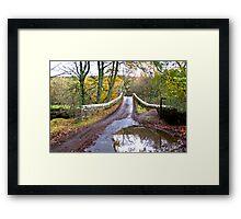 Bridge Approach Framed Print