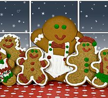 Gingerbread Family by Maria Dryfhout