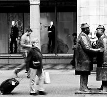 The Conversation Amongst the Hustle and Bustle by Charles Plant