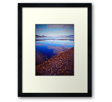 Okanagan Lake Before Work on a Sunny Saturday Morning Framed Print