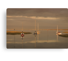 Golden hour at the Riverside Canvas Print
