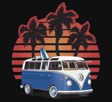VW Split Window Bus w Palmes by Frank Schuster