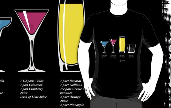 CMYK Cocktails by GennFizz