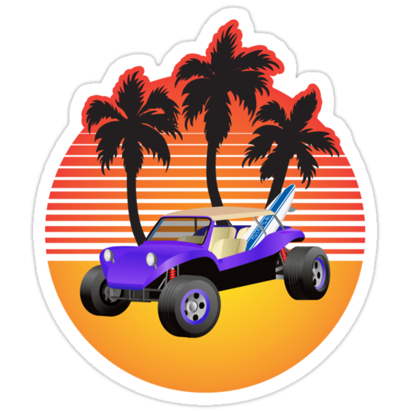 Dune Buggy Manxter Purple Sunset by Frank Schuster