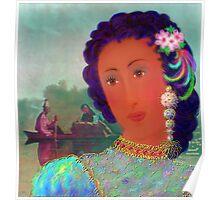 'Lady Missouri', Great, Great, Grandma, full blood Cherokee American Indian, A Cherokee Fantasy Poster