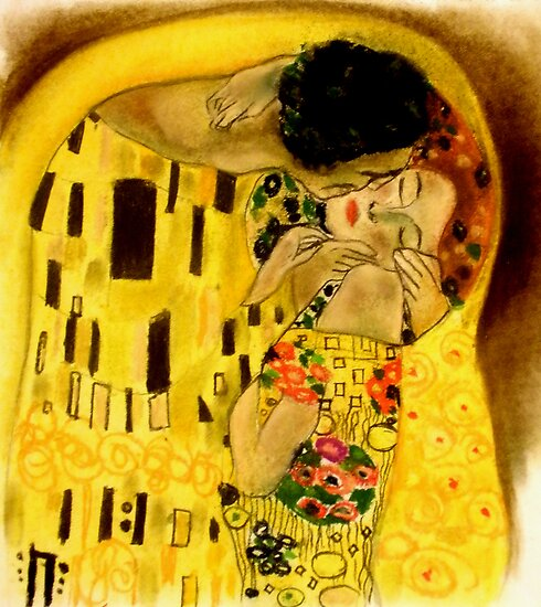 Klimt Study 1- The Kiss by littlearty