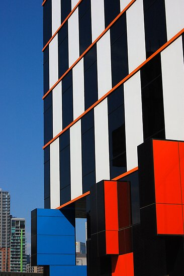 Building blocks at Docklands by Bernard (Ben)  Bosmans