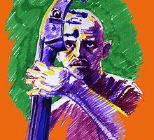Jazz portraits-Enzo Pietropaoli by Francesca Romana Brogani