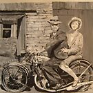 courtin on a BSA motorcycle by suelong