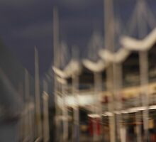Masts at Gunwharf Quays Portsmouth by Nigel Kenny