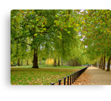 St James's Park, Autumn Canvas Print