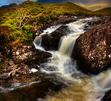 Sligachan Burn in spate, Isle of Skye. Scotland. by photosecosse /barbara jones