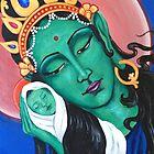 Green Tara -acrylic on canvas by margotmythmaker