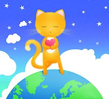 Cool cats dream of world peace! by Hannah Chapman