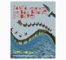 Santa Negotiates the Bay Bridge S-Curve! by Wing Tong