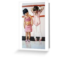 I do ballet!, watercolor on yupo paper Greeting Card