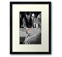 A Smith & Wesson beats four aces Framed Print