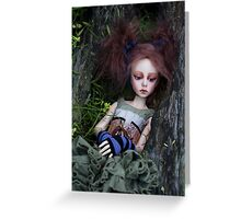 Deep in the woods (Contemplation) Greeting Card