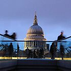 St.Pauls cathedral through millenium bridge, London by marick