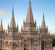 Salt Lake Temple - Blue Skies by Ryan Houston