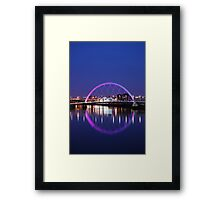 Squinty bridge over the Clyde - the full circle ! Framed Print