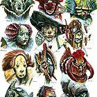 Demonic Heads by Tiffany Turrill