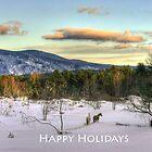 2 Horses Happy Holidays by Wayne King