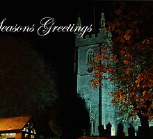 Seasons greetings - St. Andrews, Stratton, by night by imageworld