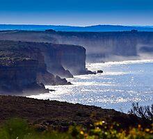 "Cliffs along ""The Great Ocean Road "" Victoria, Australia by Manfred Belau"