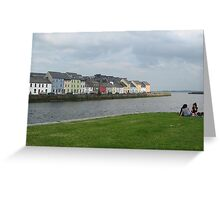 View of Longwalk at The Claddagh Greeting Card