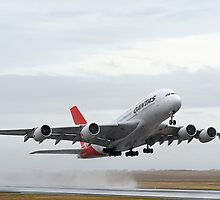Qantas A 380 Nancy Bird Walton At Avalon Airshow 2009 by Barry Culling