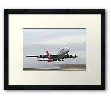 Qantas A 380 Nancy Bird Walton At Avalon Airshow 2009 Framed Print