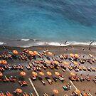 Orange Umbrellas by giohugueth
