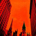 Phillyscape in Red by Colleen Friedman