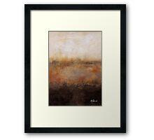 Sepia Wetlands Framed Print