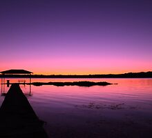 Purple sunset over the lake by loki1982
