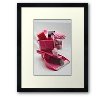 pink cleaning gear Framed Print