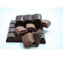 chocolate bar, pure and milk Photographic Print