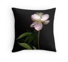 Pale Pink Peony Throw Pillow