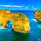 The Great Ocean Road - View of Elephant Rock  by Geoffrey Thomas