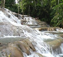 Dunns River Falls, Closer View by Rosalie Scanlon
