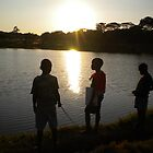 Malawi: children fishing at Lilongwe&#x27;s Area 10 dam by Anita Deppe
