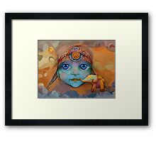 The Golden Elephant Framed Print