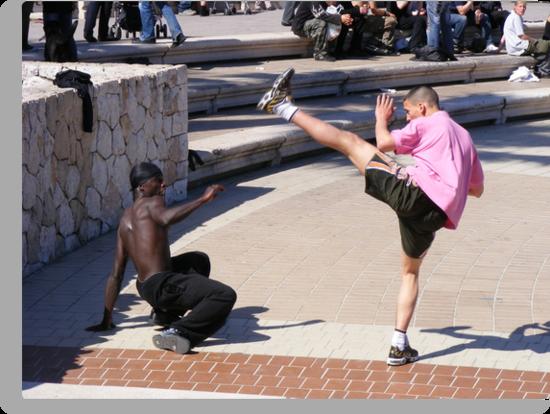 Getting his Kicks - Nice, France by David Dutton