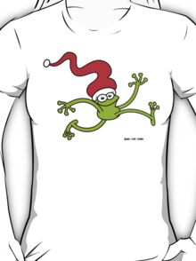 Christmas Frog Jumping out of Joy! T-Shirt