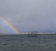 """Looking for the pot of gold"" at Lake Eucumbene. by eucumbene"