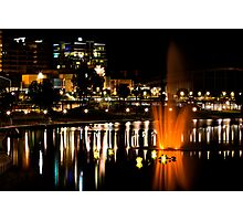 Nighttime on the Torrens Photographic Print