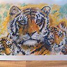 tiger and cubs by suelong