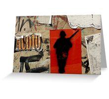 Gunman- Graffiti Greeting Card