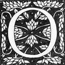 "Art Nouveau ""O"" (William Morris Inspired) by Donnahuntriss"